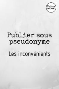 Publier sous pseudonyme