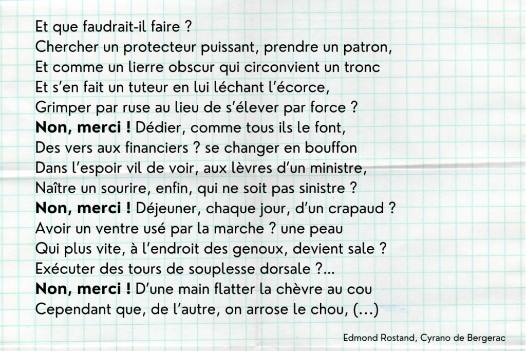 Anaphore dans Cyrano de Bergerac