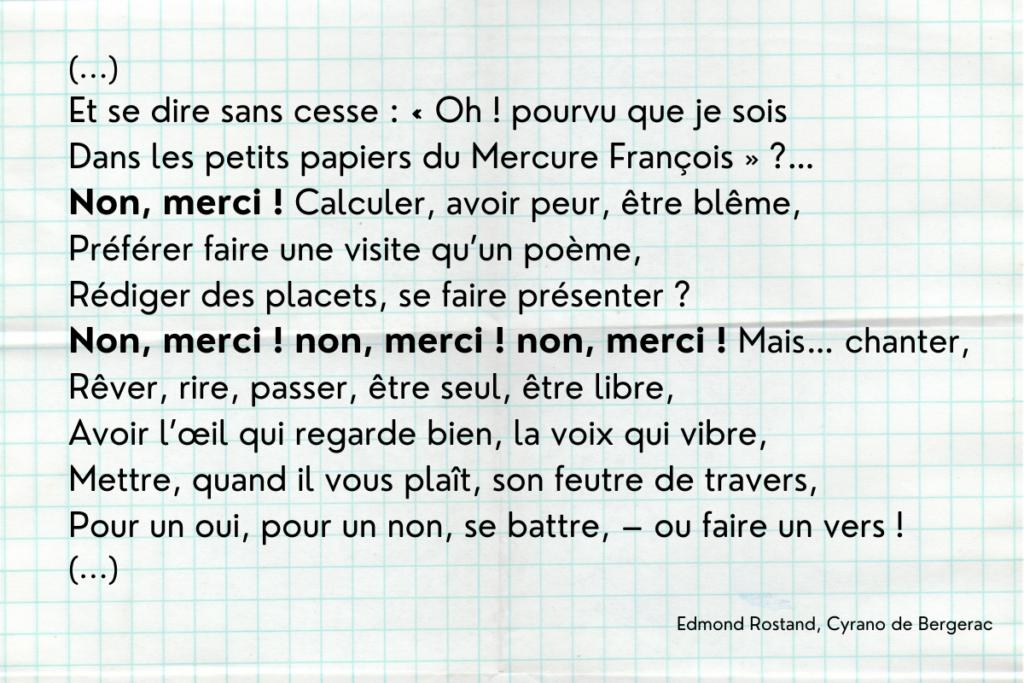 Non merci - Cyrano de Bergerac